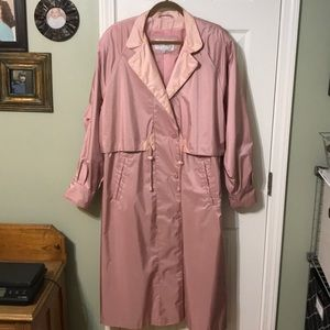 Coats Collectibles Soft Pink Trench Raincoat. W/12